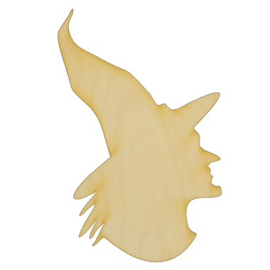 Witch Profile Wood Cutout Halloween Wood Cutouts Unfinished Wood Cutouts And Shapes