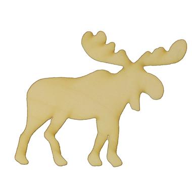 Moose 2 Laser Cut Out Wood Shape Craft Supply Woodcraft Cutout