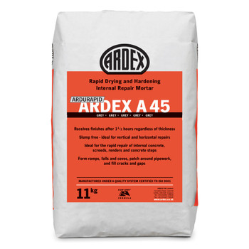 ARDEX Ardurapid A 45 Rapid Drying Internal Repair Mortar 11kg
