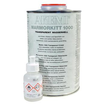 Akemi Marble Filler 1000 Transparent Waterclear Adhesive 900ml