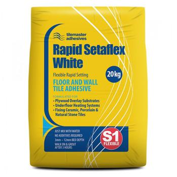 Tilemaster Rapid Setaflex White 20kg