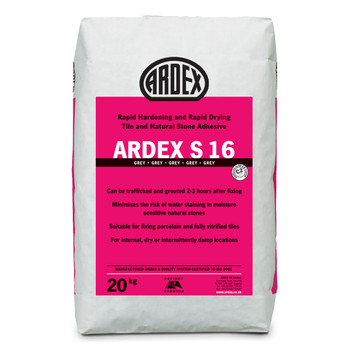 ARDEX S 16 Flexible Rapid Set Tile & Stone Adhesive Grey 20kg