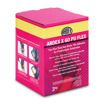 ARDEX X 60 PU FLEX Polyurethane Reaction Resin Tile Adhesive 3kg
