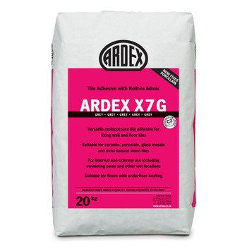 ARDEX X 7 G Flexible Standard Set Tile Adhesive Grey 20kg