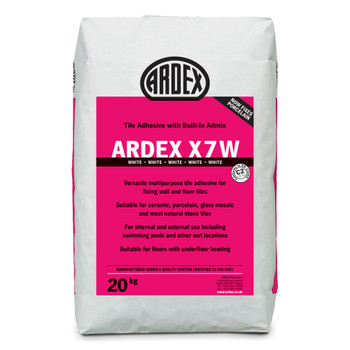 ARDEX X 7 W Flexible Standard Set Tile Adhesive White 20kg