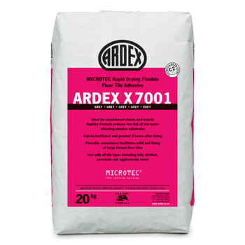 ARDEX X 7001 MICROTEC® Flexible Rapid Set Pourable Floor Tile & Stone Adhesive Grey 20kg