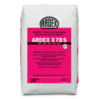 ARDEX X 78 S MICROTEC® Flexible Rapid Set Semi-Pourable Floor Tile Adhesive Grey 20kg
