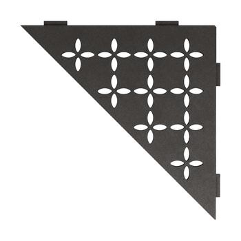 Schluter Shelf E-S1 Floral Textured Finished Aluminium Dark Graphite
