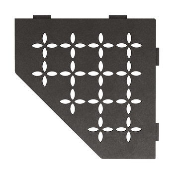 Schluter Shelf E-S2 Floral Textured Finished Aluminium Dark Graphite
