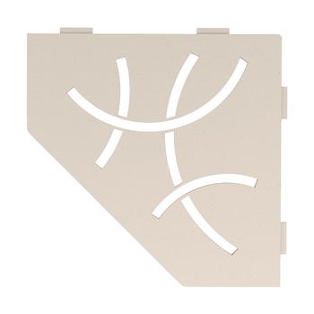 Schluter Shelf E-S2 Curve Textured Finished Aluminium Ivory