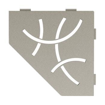 Schluter Shelf E-S2 Curve Textured Finished Aluminium Stone Grey