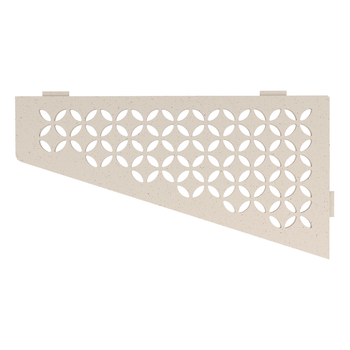 Schluter Shelf E-S3 Floral Textured Finished Aluminium Ivory