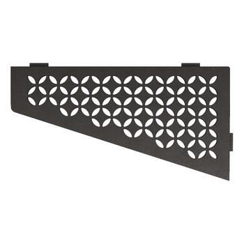Schluter Shelf E-S3 Floral Textured Finished Aluminium Dark Graphite