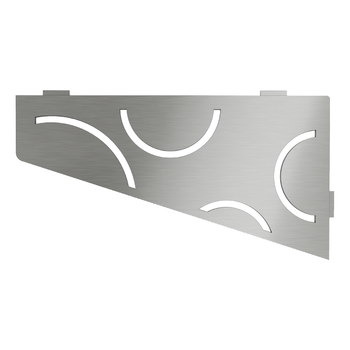 Schluter Shelf E-S3 Curve Brushed Stainless Steel