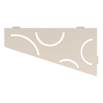 Schluter Shelf E-S3 Curve Textured Finished Aluminium Ivory