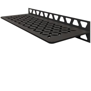 Schluter Shelf W-S1 Floral Textured Finished Aluminium Dark Graphite