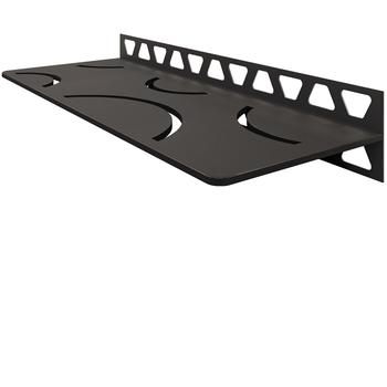 Schluter Shelf W-S1 Curve Textured Finished Aluminium Dark Graphite