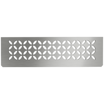 Schluter Shelf N-S1 Floral Brushed Stainless Steel