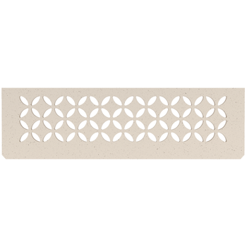 Schluter Shelf N-S1 Floral Textured Finished Aluminium Ivory