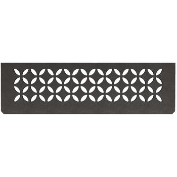 Schluter Shelf N-S1 Floral Textured Finished Aluminium Dark Graphite