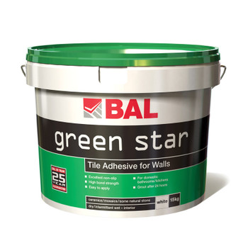 BAL Green Star Ready Mixed Wall Tile Adhesive 15kg