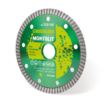 Montolit TCS115E Green Line Basic 115mm Diamond Blade