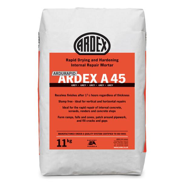 ARDEX Ardurapid A 45 Rapid Drying Internal Repair Mortar 11kg