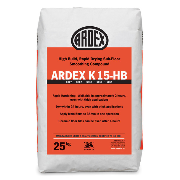 ARDEX K 15 HB High Build Rapid Drying Smoothing Compound 25kg