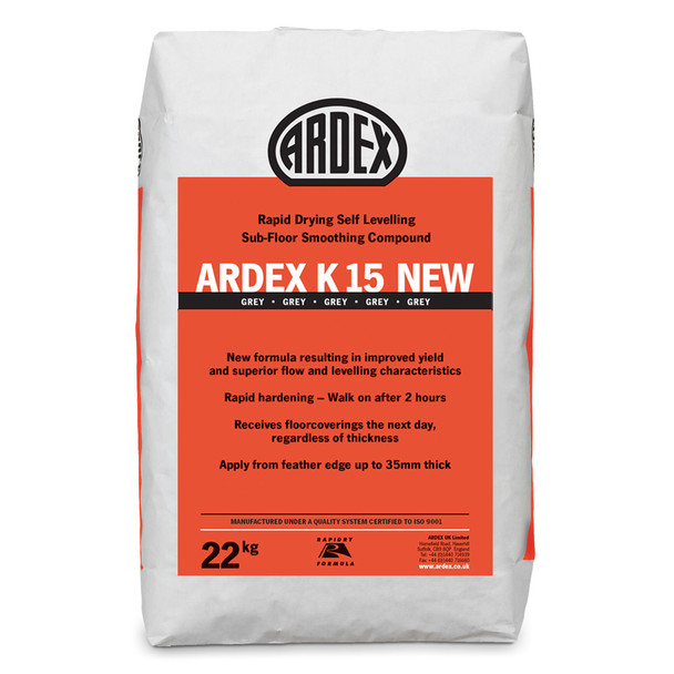 ARDEX K 15 Rapid Drying Heavy Duty Self-Levelling Smoothing Compound 22kg