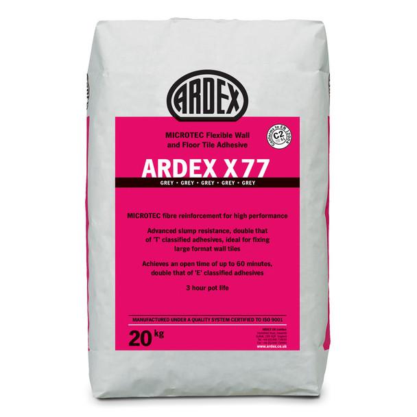 ARDEX X 77 MICROTEC® Flexible Standard Set Tile Adhesive Grey 20kg