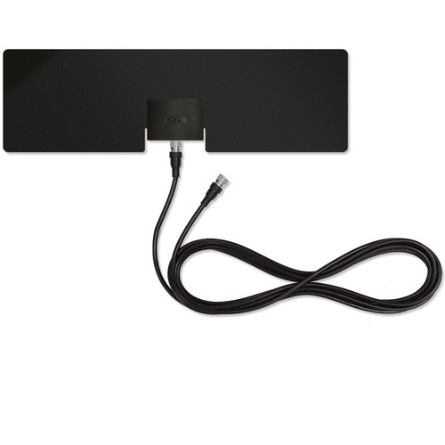 mohu leaf metro antenna front view back side with coaxial cable