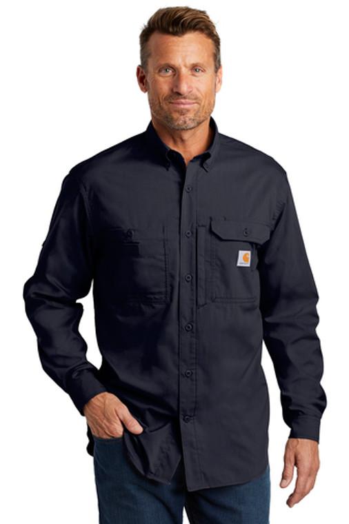 Navy Collared Carhartt Shirt Front