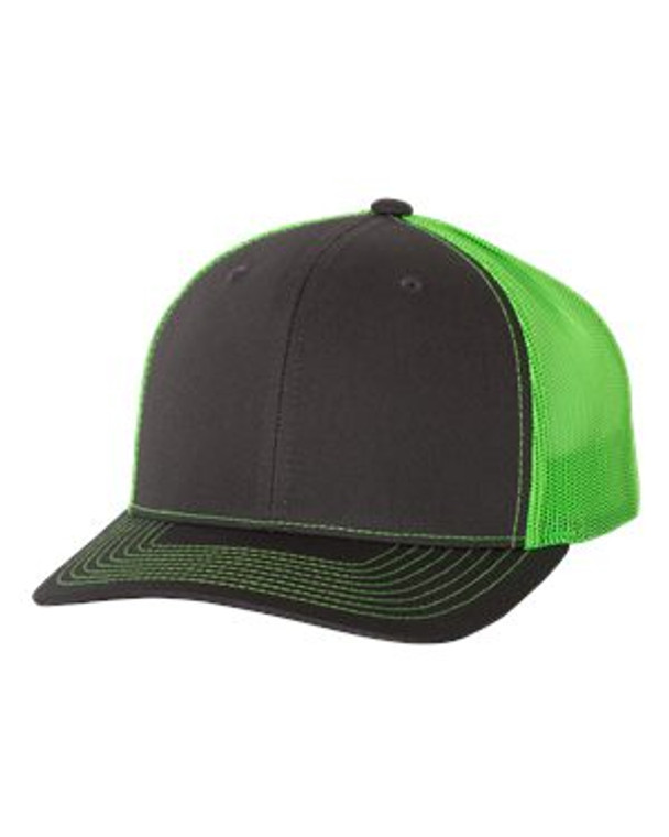 Charcoal/Neon Green Snapback Trucker Cap