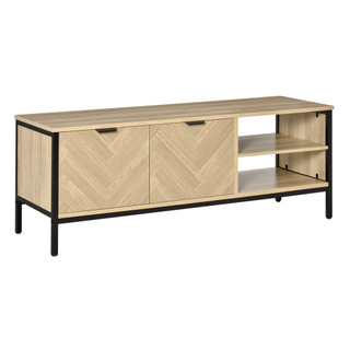 839-081 Fishscale Design - TV Stand - Natural Wood