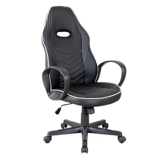 921-167V70WT PU Leather - Office/Gaming Chair - Padded White/Black
