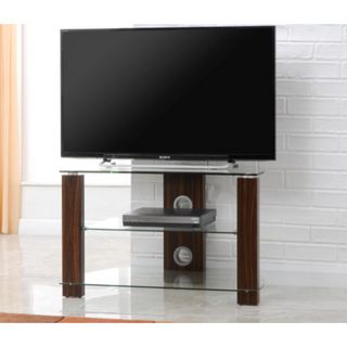 L630-800-3WC Vision 800mm Walnut and Glass Stand