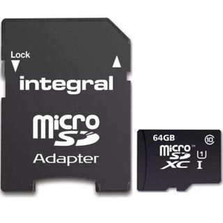 868688 64 GB Integral Micro SD with Adapter