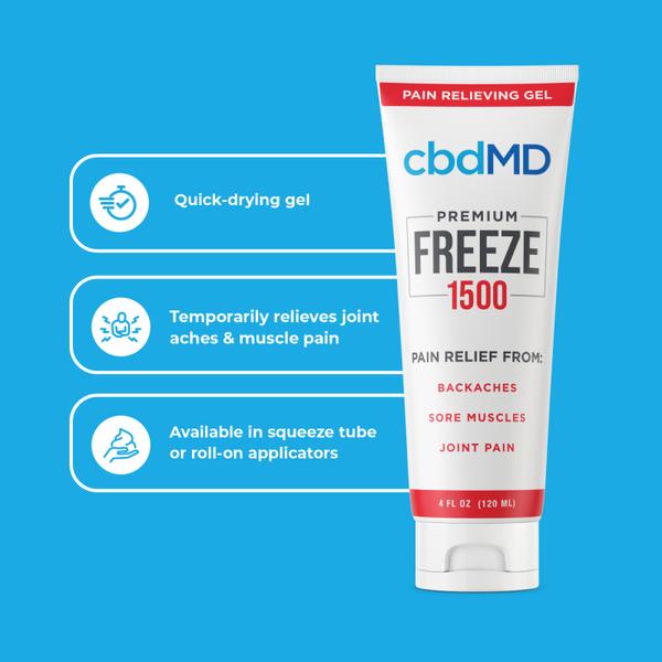 cbdMD - CBD Freeze Squeeze