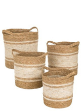 MAIZE & SEAGRASS BASKET- LARGE
