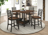 COUNTER HEIGHT DINING TABLE & 4 CHAIRS SET