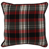 HOLIDAY PLAID RED/ MULTI PILLOW-18""