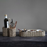 """14.25""""HANDWOVEN SEAGRASS BASKET CHIP & DIP TRAY"""
