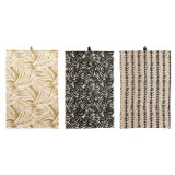 COTTON PRINTED TEA TOWELS- SET OF 3 STYLES
