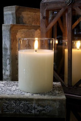 """SIMPLY IVORY RADIANCE POURED CANDLE-3.5""""X 5"""""""