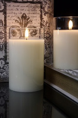 """SIMPLY IVORY RADIANCE POURED CANDLE- 3.5"""" X 6"""""""