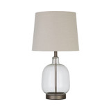 EMPIRE TABLE LAMP BEIGE & CLEAR