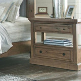 RUSTIC NIGHTSTAND WITH USB CHARGING PORT