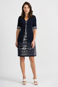 Joseph Ribkoff Rope Pattern Dress