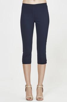 MacJays Womens Paris 3/4 Length Pant - Black (front)