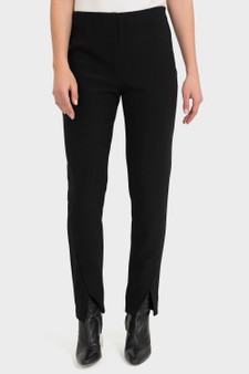 Joseph Ribkoff Pant with Front Split Cuff Detail - Front